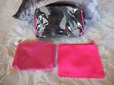 InStyle ipsy pink camo makeup cosmetic travel clutch purse bags lot of 3