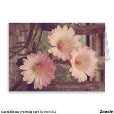 Cacti Bloom greeting card