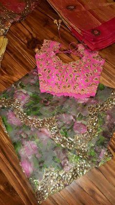 Designer Sarees Collection, Latest Designer Sarees, Saree Collection, Organza Saree, Chiffon Saree, Saree Dress, Saree Blouse Patterns, Designer Blouse Patterns, Blouse Designs