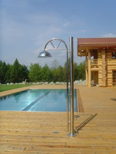 nice long sports pool - stainless. stahlwand sport schwimmbad