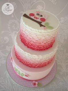 """This is based on a design by my friend Jo at Torta Couture. Jo made a single tier of this cake so I asked her permission to turn it into a three tier. Tiers are 5"""", 7"""" & 9""""."""