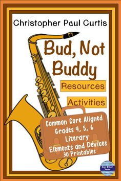 Bud, Not Buddy Activities and Resources 6th Grade Activities, Post Reading Activities, Reading Resources, Teacher Resources, Reading Books, Literary Elements, Figurative Language, Teacher Tools, Foster Parenting