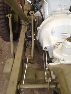 Underside of tub showing fuel line route Willys Jeep