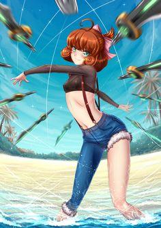 Summer Time Penny Polendina - Bikini by ADSouto on DeviantArt Chica Anime Manga, Kawaii Anime, Anime Art, Rwby Penny, Rwby Neo, Rwby Characters, Rwby Comic, Team Rwby, Rwby Fanart