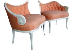 Hollywood Glam Chairs, Pair - One Kings Lane - Vintage & Market Finds - Furniture