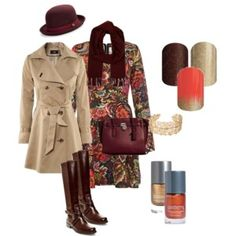 A fashion look from September 2015 featuring boho style dresses, khaki trench coat and brown leather knee high boots. Browse and shop related looks. Jamberry Fall, Khaki Trench Coat, Boho Fashion, Fashion Looks, Boho Style Dresses, Fall Nail Designs, Catching Fire, Knee High Boots, Brown Leather