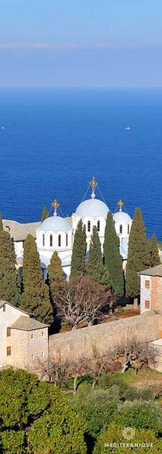 The Skete of Saint John the Baptist, Mount Athos, Greece The Beautiful Country, Beautiful Places, Places Around The World, Around The Worlds, The Holy Mountain, Ancient Greek Architecture, Kirchen, Greece Travel, Places To Visit