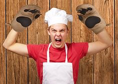 """These Oven Mitts Make Cooking More """"Bearable""""  ... see more at PetsLady.com ... The FUN site for Animal Lovers"""