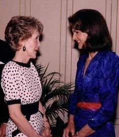 Nancy Reagan and Jackie Kennedy.