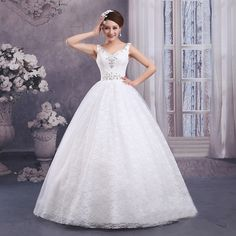 Find More Wedding Dresses Information about 2015 new hot sale Sleeveless  luxury sexy backless elegant  beach v neck lace plus size white beading wedding dress,High Quality wedding dress sleeve styles,China wedding cheap dresses Suppliers, Cheap dress wear wedding from Playful beauty department store on Aliexpress.com