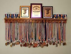 BLACK 4 Foot Award Medal Display Rack and Trophy Shelf   Sporting Goods, Other Sporting Goods   eBay!