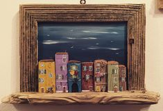 Driftwood only, including the frame  #nikastinyhouse #tinyhouse #frame #picture #photo #street #handmade #unique #art #artist #piran #slovenia #bike #mini #small