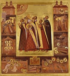 Martyred Saints Brancoveni by Elena Murariu / Brancoveanu Martyrs Byzantine Icons, Byzantine Art, Faith Of Our Fathers, Best Icons, Icon Collection, Orthodox Icons, I Icon, Sacred Art, Christian Art