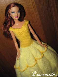 Tricot: Robe de princesse Disney, Belle
