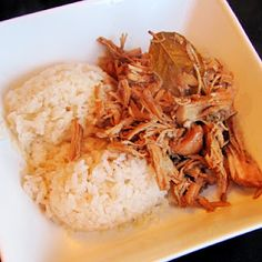 """""""Skinny"""" Adobo Chicken.  Chicken is slow cooked with soy, vinegar, pepper, and tons of garlic.     A quick and very healthy dinner!"""