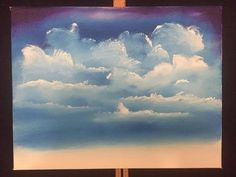 how to paint easy clouds (acrylic) - YouTube