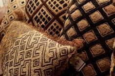 "Kuba Cloth pillows are all original and unique. sizes range from 18"" to 22"" depending on the textile. Prices start at $240.00 with free delivery in the continental USA."