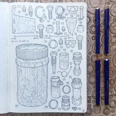 Vol. 2.  Page XC Items 3,752 - 3,782 #theshedproject #drawing #grandfathers #shed #art #artist #illustrator #illustration #fineart #wip #sketchbook #journal #moleskine #moleskinearts #challenge #tools #manstuff #pembrokeshire #aberbargoed #wales #staedtler #staedtlermars #marsmatic #linedrawing #old #volume2 #igerwales
