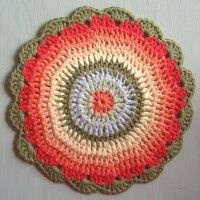 Crochet Mandala Wheel made by Evelyn, Netherlands, for yarndale.co.uk