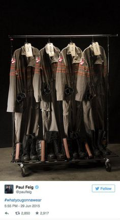 Heres the first look at the new Ghostbusters uniform