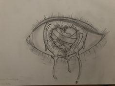 hippie painting ideas 675047431632796195 - Eyes Broken Hearted Source by maeva_des Sad Drawings, Dark Art Drawings, Pencil Art Drawings, Art Drawings Sketches, Sad Sketches, Broken Heart Drawings, Broken Heart Art, Heart Break Drawings, Love Heart Drawing