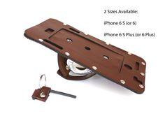 bike gift Bicycle iPhone 7 6 S or 6 S Plus Holder in Brown