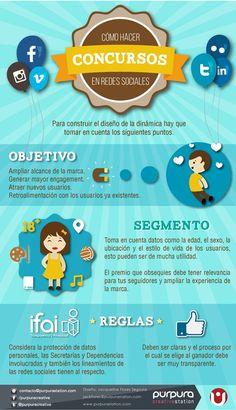 Concursos en Redes Sociales #infografia #infographic #socialmedia
