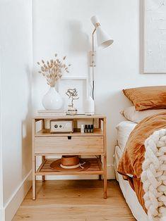 Room Ideas Bedroom, Home Decor Bedroom, Simple Bedroom Decor, Simple Rooms, Calm Bedroom, Neutral Bedroom Decor, Bedroom Signs, Ikea Boho Bedroom, Wood Room Ideas