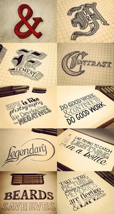 hand drawn type :-)