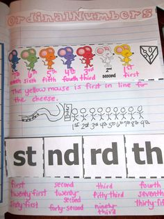 Teaching ordinal numbers through interactive notebooking (numeration unit) $