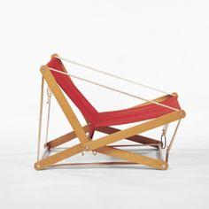 Henry P. Glass, Prototype Folding Chair, 1970s.