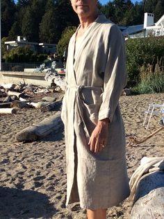Kimono Coat, Kimono Fashion, Cuddle, Gender Neutral, Hand Washing, Linen Fabric, Seasons, Beige, Pure Products