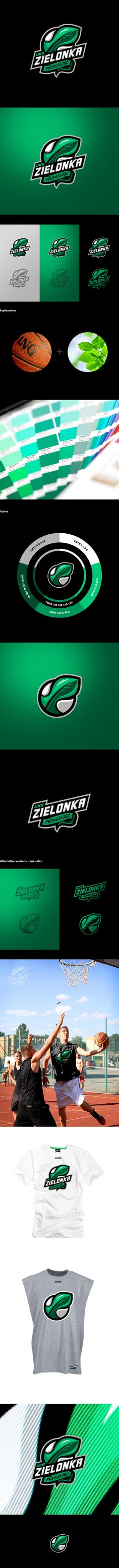 UKS Zielonka Przyszłość on Behance  A logo prepared for the basketball team from Poland whose coach is former NBA player Michael Ansley.