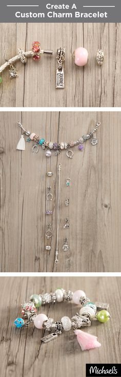 Create a custom charm bracelet with Bead Landing™ Bits & Baubles™ glass beads and personalized charms. Just select your bracelet and then slide on beads and charms for a special bracelet that's one of a kind. Find everything you need to make this bracelet at your local Michaels store.