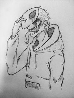 # self portrait , Demon Drawings, Creepy Drawings, Dark Art Drawings, Pencil Art Drawings, Art Drawings Sketches, Cartoon Drawings, Cool Drawings, Creepy Sketches, Horror Drawing