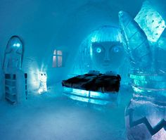 Ice Hotel Gets Paris Rooftops Themed Room: How Cool - Captivatist Ice Hotel Sweden, Norway Hotel, Paris Rooftops, Ice Bars, See The Northern Lights, Bedroom Themes, Bedroom Boys, Space Theme, Places Around The World