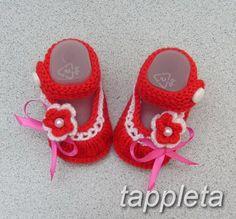 Нарядные Пинетки 0-12 мес. для девочки, шерстяные, вязанные, первая обувь, на крестины, белый, красный, сиреневый, подарок, новорожденный by tappleta on Etsy