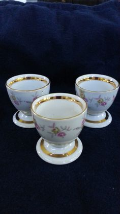Set of 3 Vintage Egg Cups Winterling Bavaria Germany by WilloGail, $10.99