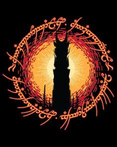 """""""Barad Dur"""" features the Tower and the famous characters from the Ring. Art by kgullholmen. Jrr Tolkien, Barad Dur, Lord Of The Rings Tattoo, Middle Earth Shadow, Graffiti, O Hobbit, T Art, Lotr, Photo Cards"""