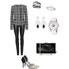 Black and white outfit by mna qansoh