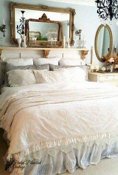Romantic/shabby chic style bedroom #shabbychicbedroomsromantic