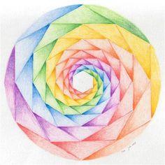 Mandala's Saturday, February 2009 What does Mandala Mandala is a Sanskrit word meaning circle. Geometry Art, Sacred Geometry, Form Drawing, Geometric Drawing, Math Art, Color Pencil Art, Art Drawings Sketches, Mandala Art, Doodle Art