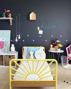 Decorating kids bedroom is super exciting for parents. But if you stuck in finding decoration ideas, here are 27 playful kids bedroom designs for girls and boys! Cool Kids Rooms, Bohemian Bedroom Decor, Gothic Bedroom, Bohemian Room, Gypsy Decor, Kids Room Design, Little Girl Rooms, Awesome Bedrooms, Kid Spaces