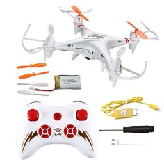 Flying Quadcopter w/Camera,Phantom's perfect trainer,6D-Gyro, 2.4ghz