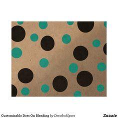 Customizable Dots On Blending Photo Cork Paper