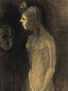 Odilon Redon (French, 1840-1916), L'Apparition. Charcoal on paper, 44.5 x 33 cm