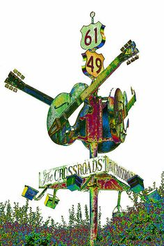 Crossroad sign in Clarksdale, MS. #musicart http://www.pinterest.com/TheHitman14/music-drawn-%2B/