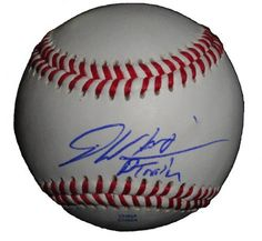"""Baltimore Orioles Dontrelle Willis Autographed ROLB Baseball Featuring """"D-Train"""" Nickname Inscription! Proof Photo by Southwestconnection-Memorabilia. $49.99. This is a Dontrelle Willis autographed Rawlings official league baseball with """"D-Train"""" nickname inscription! Dontrelle signed the ball in blue ballpoint pen. Check out the photo of Dontrelle signing for us. Proof photo is included for free with purchase. Please click on images to enlarge."""