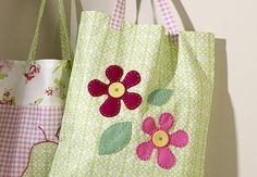 How to Sew a Flower Bag #Sewing