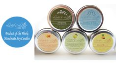 Product of the Week: Handmade Soy Candles at Loviesletter.com #SoyCandle #Candle #EcoFriendly Starting at $5